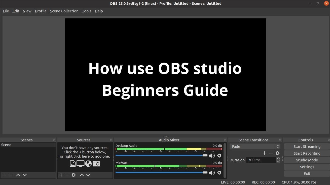 Beginners guide to OBS